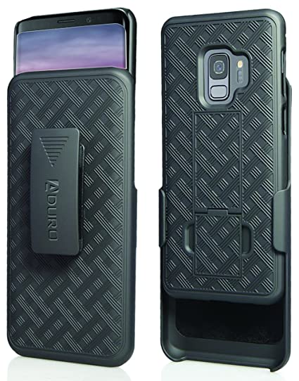 brand new 4106e 49f4c Aduro Galaxy S9 Case with Kickstand Belt Clip Holster, Combo Galaxy Case  with Rotating Belt Clip Super Slim Shell Samsung Galaxy Belt Clip Case for  ...