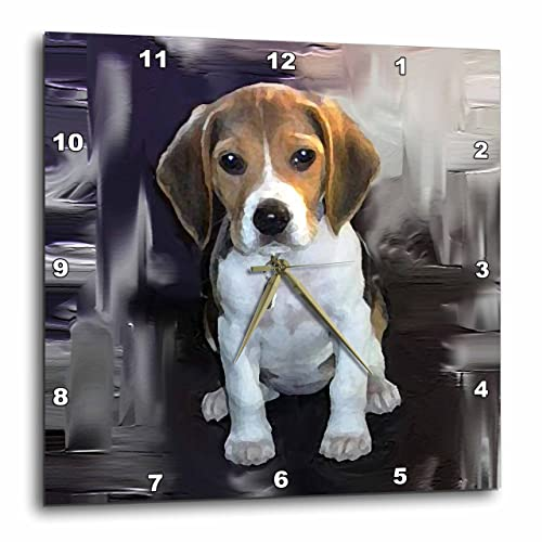 3dRose LLC Beagle Wall Clock, 10 by 10-Inch