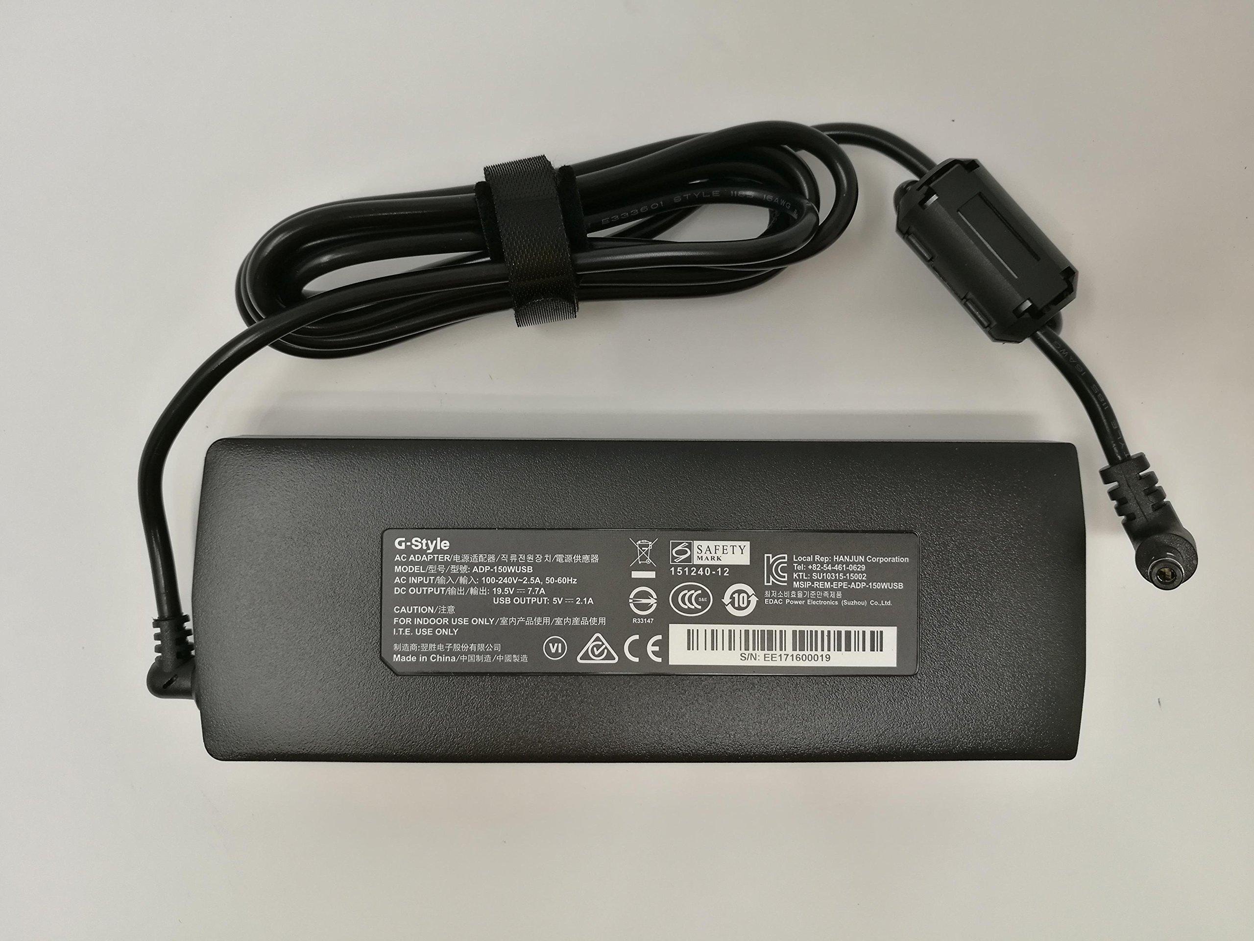 Genuine Authentic 150W AC Power Adapter Charger for GIGABYTE Gaming Laptop Aero 15w 14w 14k w/ GTX 1060, GTX 1050