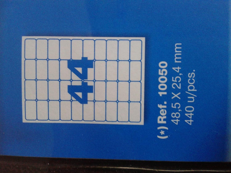10050 APLI 10 H ETIQUETAS TRANSPARENTES 48,5X25,4 MM REF