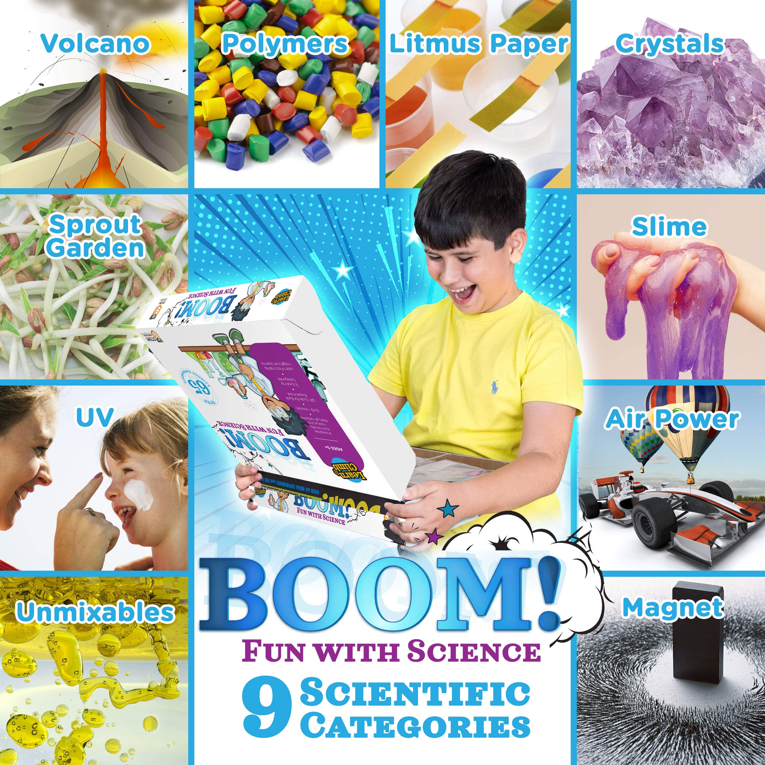 Learn & Climb Kids Science Kit - Over 60 Experiments, Fun with Science! by Learn & Climb (Image #2)