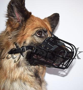 Mali, Champion Stabile Metall-Korb Hund Maulkorb mit Gummi Kunststoff f/ür Rottweiler