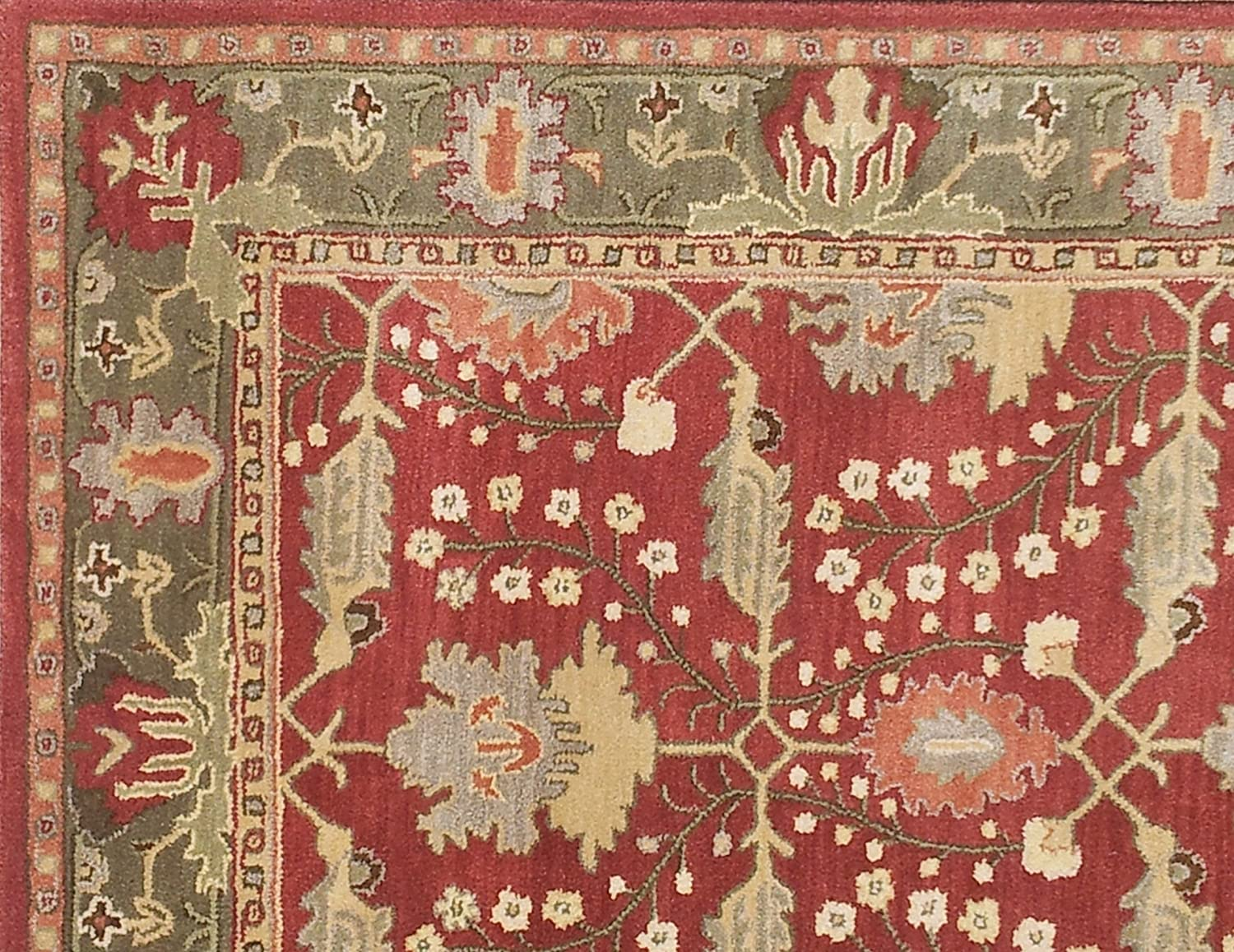 2.5X9 Allen Home Wool Rug 3X5 5X8 8X10 9X12 Allie Brown Tufted Art and Crafts Persian Traditional Wool Rug Carpet