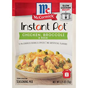 McCormick Instant Pot Chicken, Broccoli & Rice Seasoning Mix, 1.25 oz