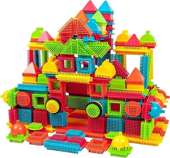150PCS Bristle Shape 3D Building Blocks Set Tiles Construction Playboards Toy US