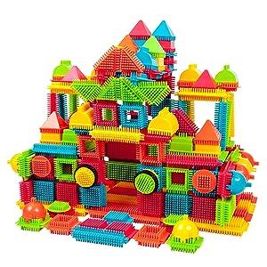 PicassoTiles PTB240 240pcs Bristle Shape 3D STEM Building Blocks Tiles Set Construction Learning Toy Stacking Educational Block, Creativity beyond Imagination, Inspirational, Recreational, Educational