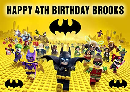 LEGO BATMAN Birthday Cake Personalized Topper Edible Frosting Photo Icing Sugar Paper A4 Sheet 1
