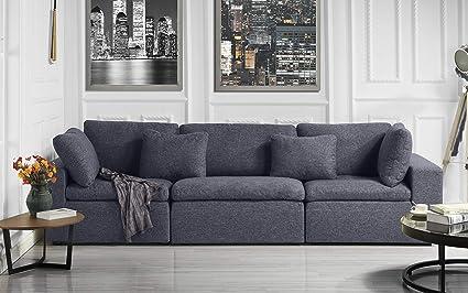 Amazon.com: Large Classic Living Room Linen Fabric Sofa, 111.8\