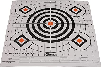 100 sheets 100 Yard Rifle Paper Target-Great for Sighting in and Scope Leveling