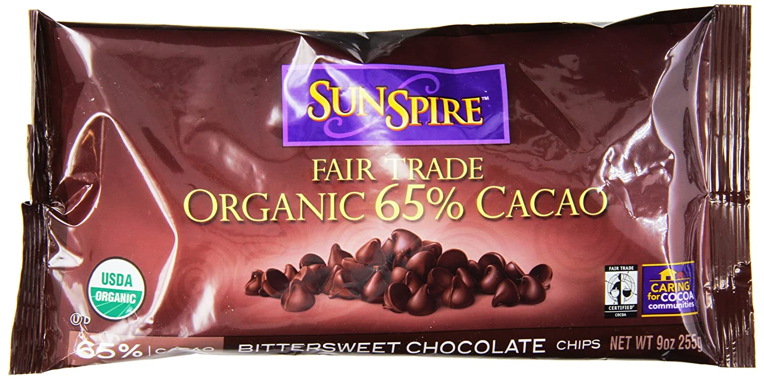 Amazon.com : SunSpire Organic Fair Trade 65% Cacao Bittersweet ...