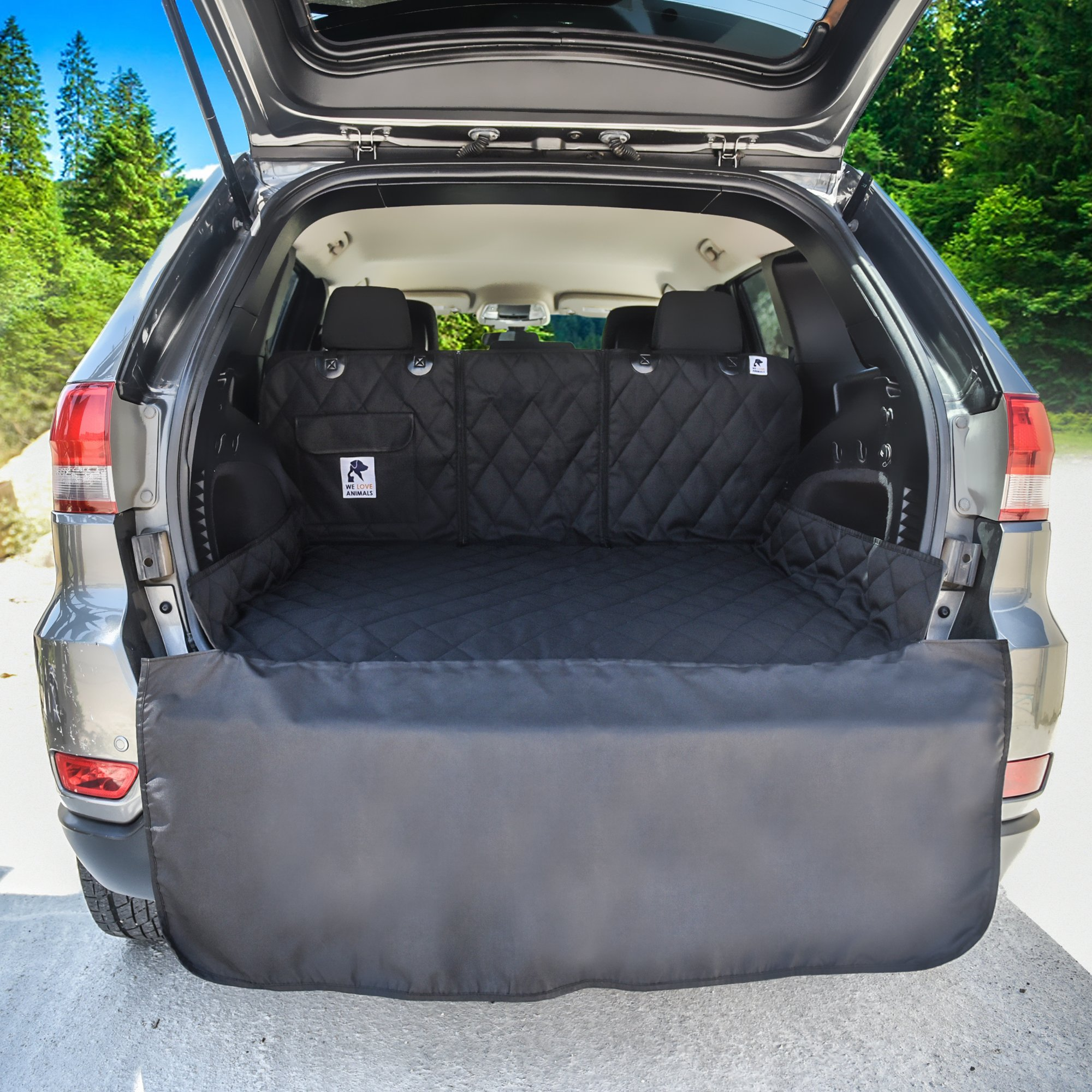 Dog Cargo Liner for SUV, Van, Truck & Jeep - Waterproof, Machine Washable, Nonslip Pet Seat Cover with Bumper Flap will keep your vehicle as clean as ever - XL, Universal Fit - BONUS Carry Bag by WE LOVE ANIMALS (Image #8)