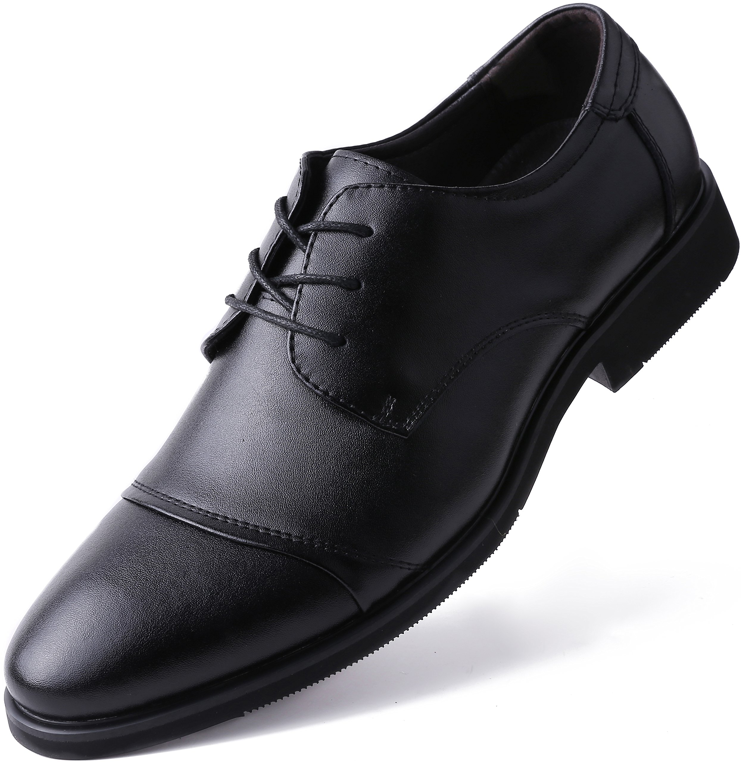 Marino Oxford Dress Shoes for Men - Formal Leather Mens Shoes - Black - Cap-Toe - 9 D(M) US by Marino Avenue