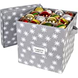 Christmas Ornament Storage Box with Lid - Store up to 64 Christmas Ornaments and Holiday Decor, A Storage Cube and Christmas