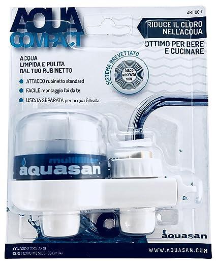 aquasan  Aquasan 0011 Filtro Rubinetto Ottimo per Bere e Cucinare, Bianco ...