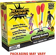 Stomp Rocket Dueling Rockets, 4 Rockets and Rocket Launcher - Outdoor Rocket Toy Gift for Boys and Girls Ages 6 Years and Up