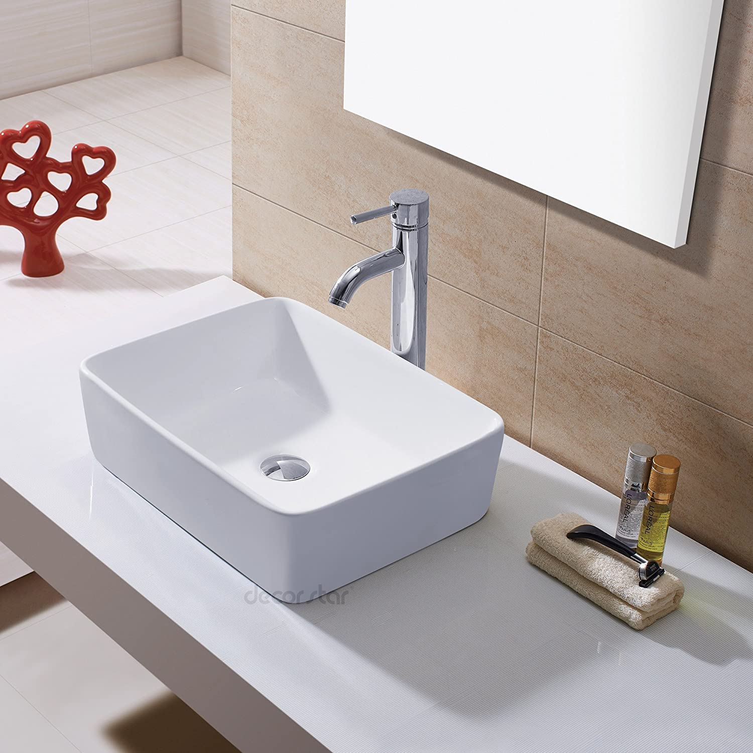 Bathroom available in 5 finishes vessel bathroom sinks msrp 425 - Decor Star Cb 013 Bathroom Porcelain Ceramic Vessel Vanity Sink Art Basin Amazon Com