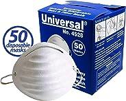 Universal 4528 Disposable Economy Dust & Filter Safety Masks - for Non-Toxic Dust, Pollen, Dander, Sawdust, Garage Dust, Gar