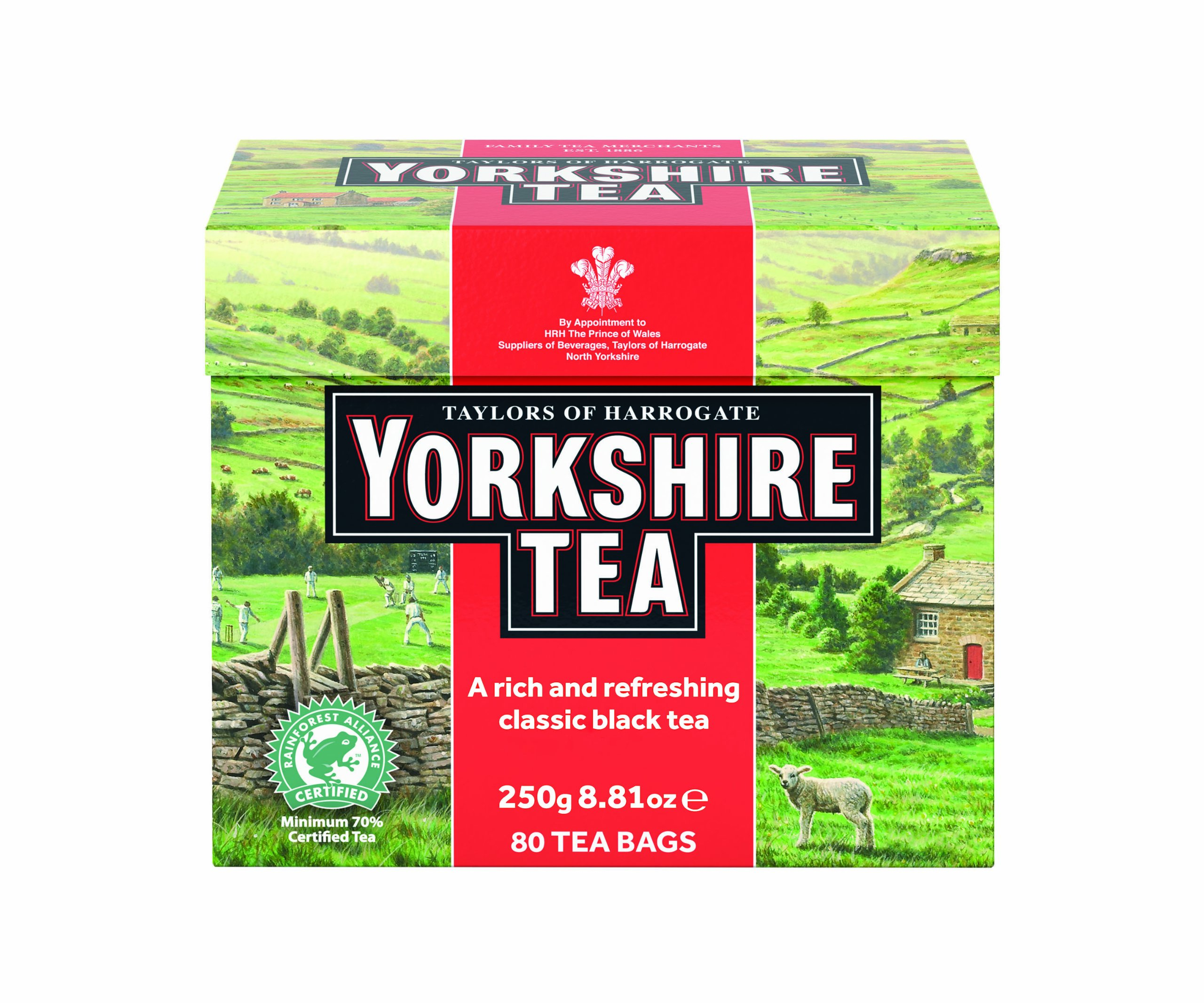 Taylors of Harrogate Yorkshire Red, 80 Teabags, (Pack of 5)