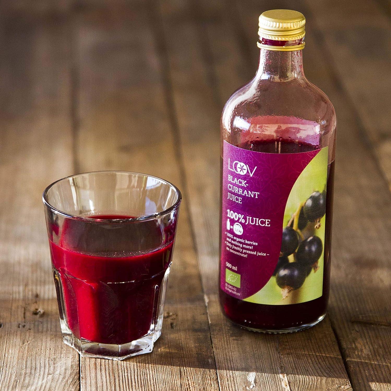 Jugo de Grosella Negra, Orgánico, 500 ml, Extraído 100 ...