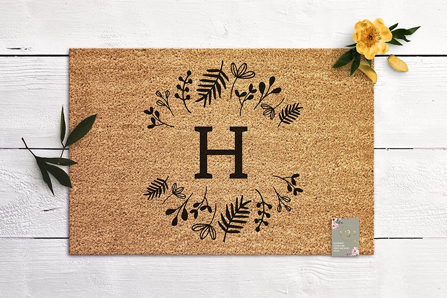 Monogram Door Mat Welcome Mat Housewarming Gift New Home Gift Personalized Wedding Gift Coir Mat Outdoor Doormat Cute Doormat
