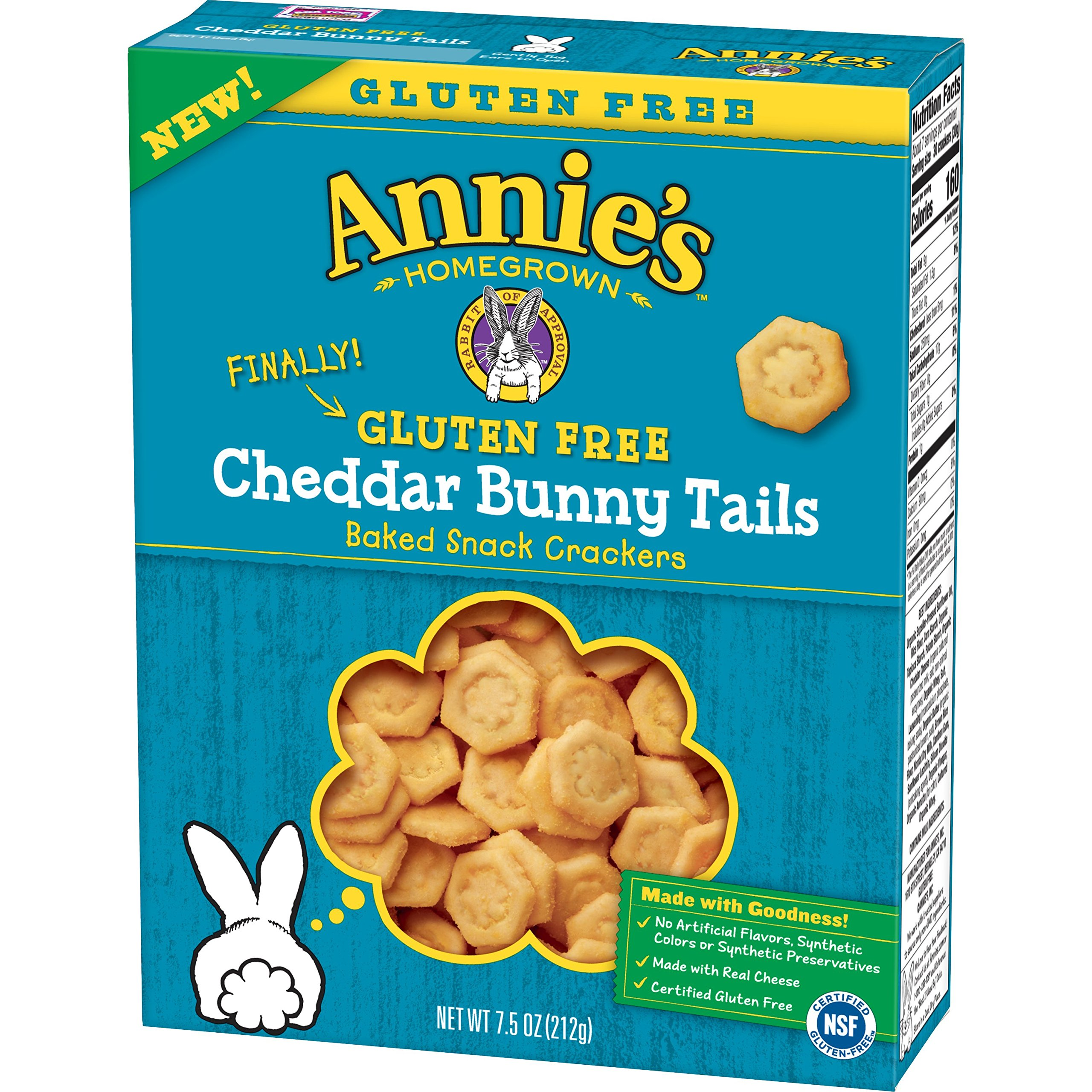 Annie's Homegrown Gluten Free Cheddar Bunny Tails,, 7.5 Oz (Pack of 12) by Annie's Homegrown