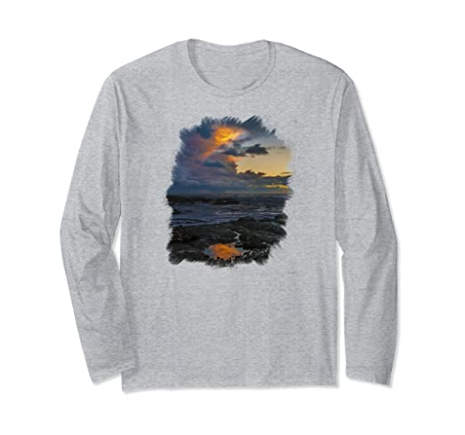 Yachats Sunset Long-sleeved T-Shirt