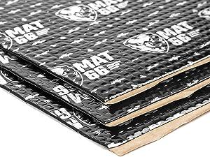 MAT66 ProBlack 80 mil 36 sqft Car Sound Deadening Mat, Butyl Automotive Sound Deadener, Audio Noise Insulation and Dampening
