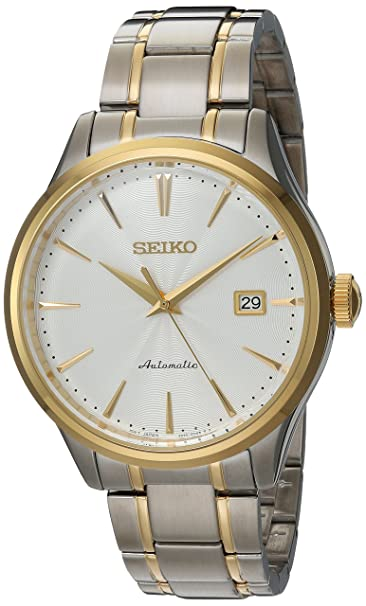 Seiko Men's Japanese Automatic Stainless Steel Casual Watch, Color:Two Tone (Model: Srp704) by Seiko