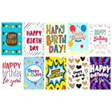 20 Large Letter Design Birthday Cards & Envelopes by Greetingles. 10 Designs. Made in UK