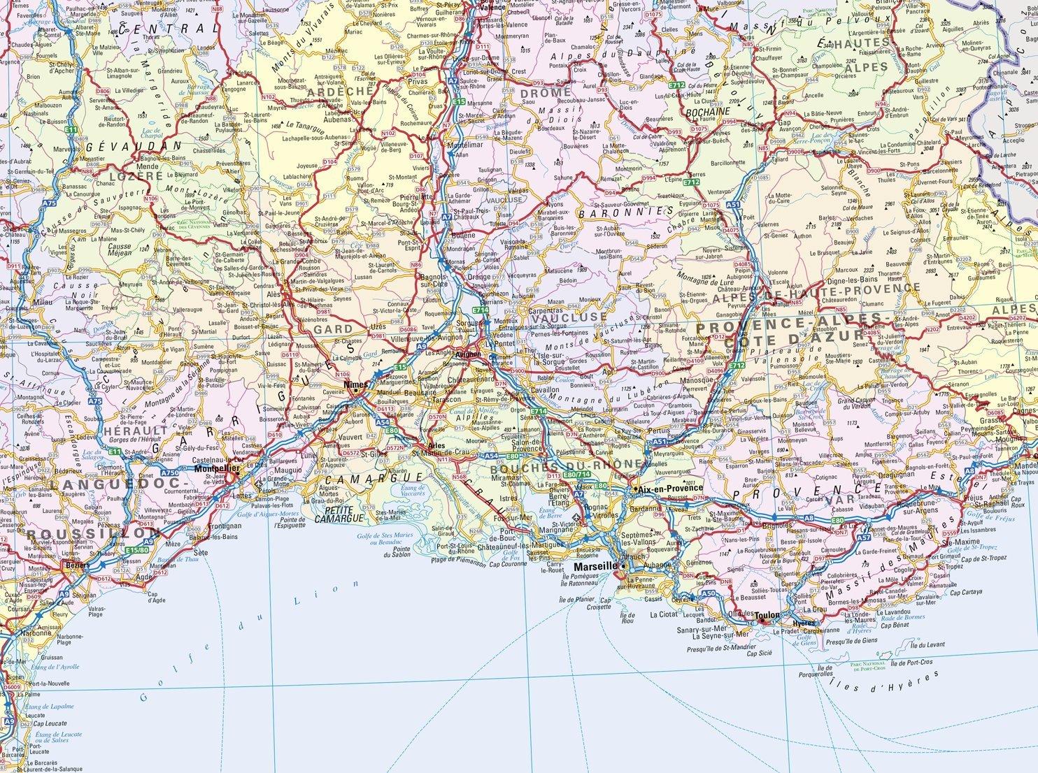 Detailed Map Of France.2015 France Collins France Road Map Collins Road Map Collins