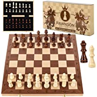 Wooden Chess Set for Kids and Adults - 15 Staunton Chess Set - Large Folding Chess Board Game Sets - Storage for Pieces…
