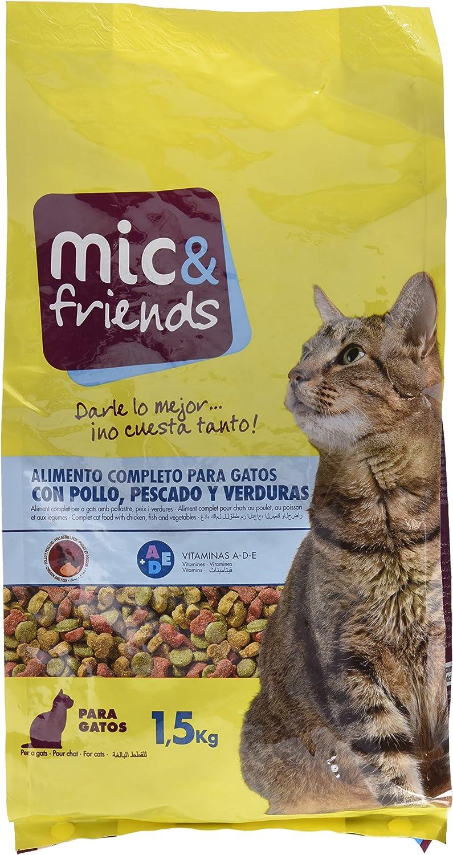 Mic & Friends Alimento Completo para Gatos con Pollo, Pescado y Verduras - 1500 gr: Amazon.es: Alimentación y bebidas
