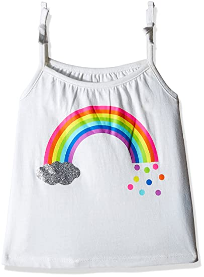 4e53bc12e50b3 The Children s Place Baby Girls  Sleeveless Tie-Strap Tank Top  (2063616 White 18-24M