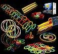 Glow Sticks Bulk 200 8'' Glowsticks (Total 456 PCs 7 Colors); Bracelets Glow Necklaces Glow-In-The-Dark Light-up Party Favors Pack by Joyin Toy