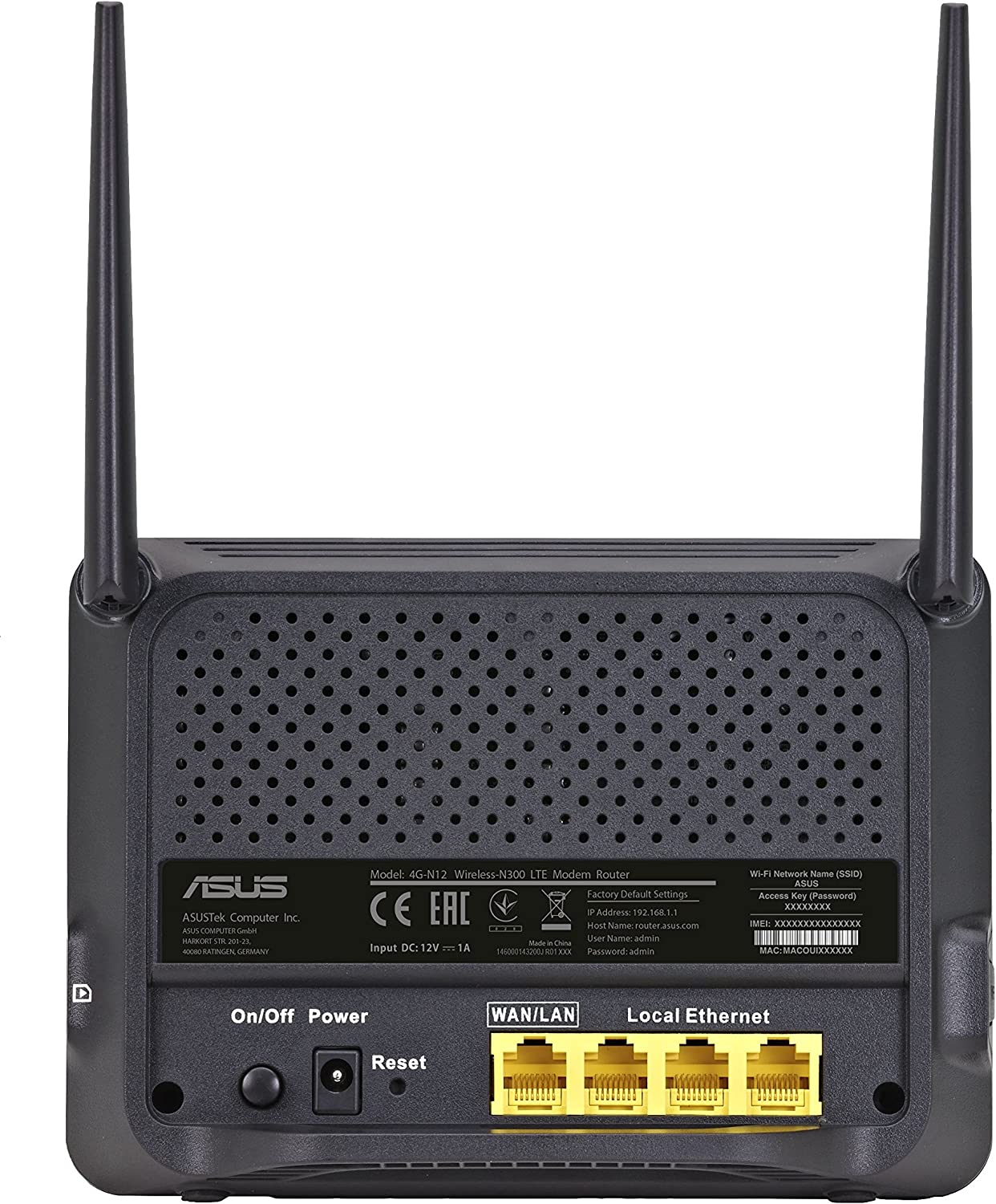 ASUS 4G N12 wireless router WWAN