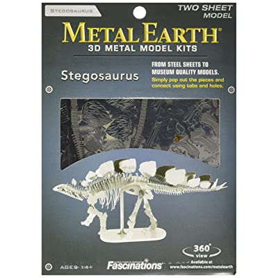 Fascinations Metal Earth Stegosaurus Skeleton 3D Metal Model Kit: Toys & Games [5Bkhe0806726]