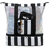 Beach Tote Bag with Detachable Cooler Compartment Insulated Picnic Cooler Bag Pool Bag for Men Travel Shoulder Tote Bag…