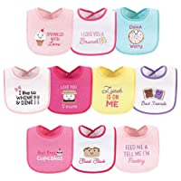 Unisex Baby Cotton Terry Drooler Bibs with Fiber Filling