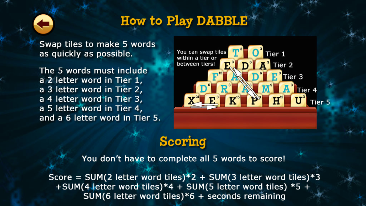 Amazon Dabble Hd The Fast Thinking Word Game Appstore For