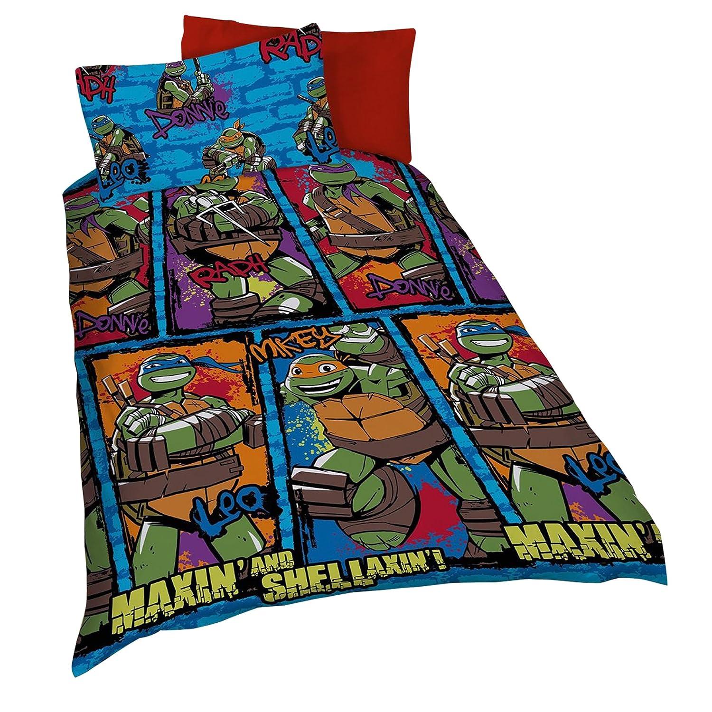 Teenage Mutant Ninja Turtles Urban Kids Reversible Single Duvet Cover Bedding Set (Twin Bed) (Multicoloured) UTKB725_1