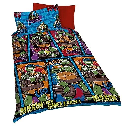 teenage mutant ninja turtles bedroom accessories uk. teenage mutant ninja turtles urban kids reversible single duvet cover bedding set (single bed) bedroom accessories uk b