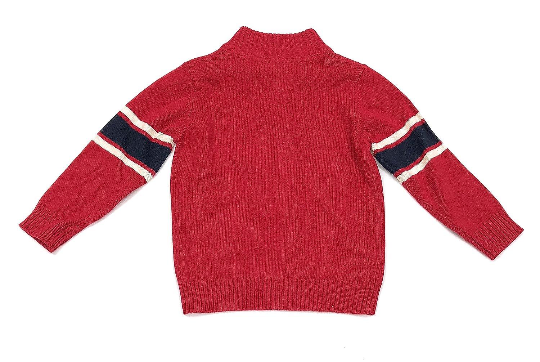 OshKosh BGosh Boys Blue Red Knit Sweater is Navy//White Stripes