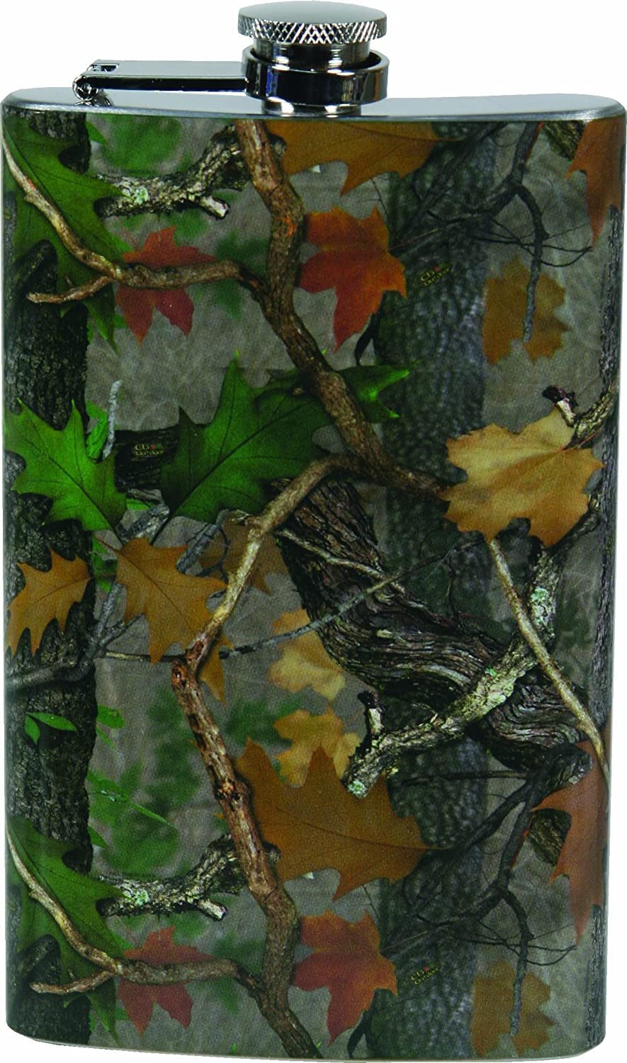 River's Edge Camo Design Stainless Steel Flask with Loading Funnel by River's Edge Products