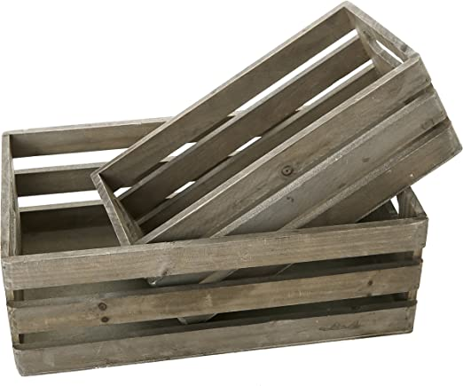Amazon.com: MyGift – Cajas-ponederas de madera, cajas ...