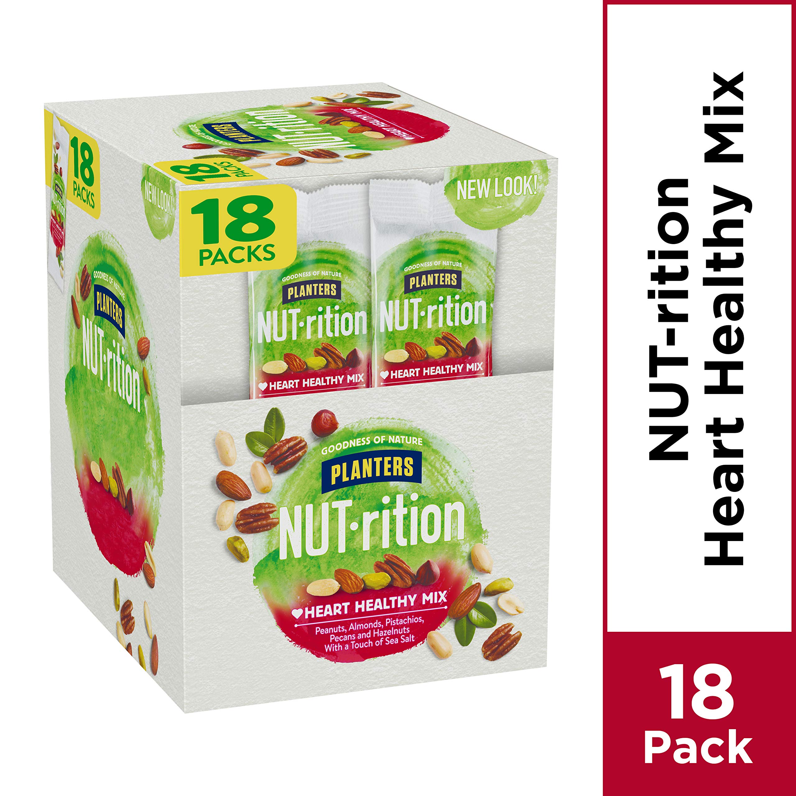 NUTrition Heart Healthy Nut Mix (1.5 oz Bags, Pack of 18) by Planters (Image #4)
