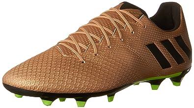 378c02fc3a04 adidas Men's Messi 16.3 Firm Ground Cleats Soccer Shoe Copper Metallic/Black/Solar  Green
