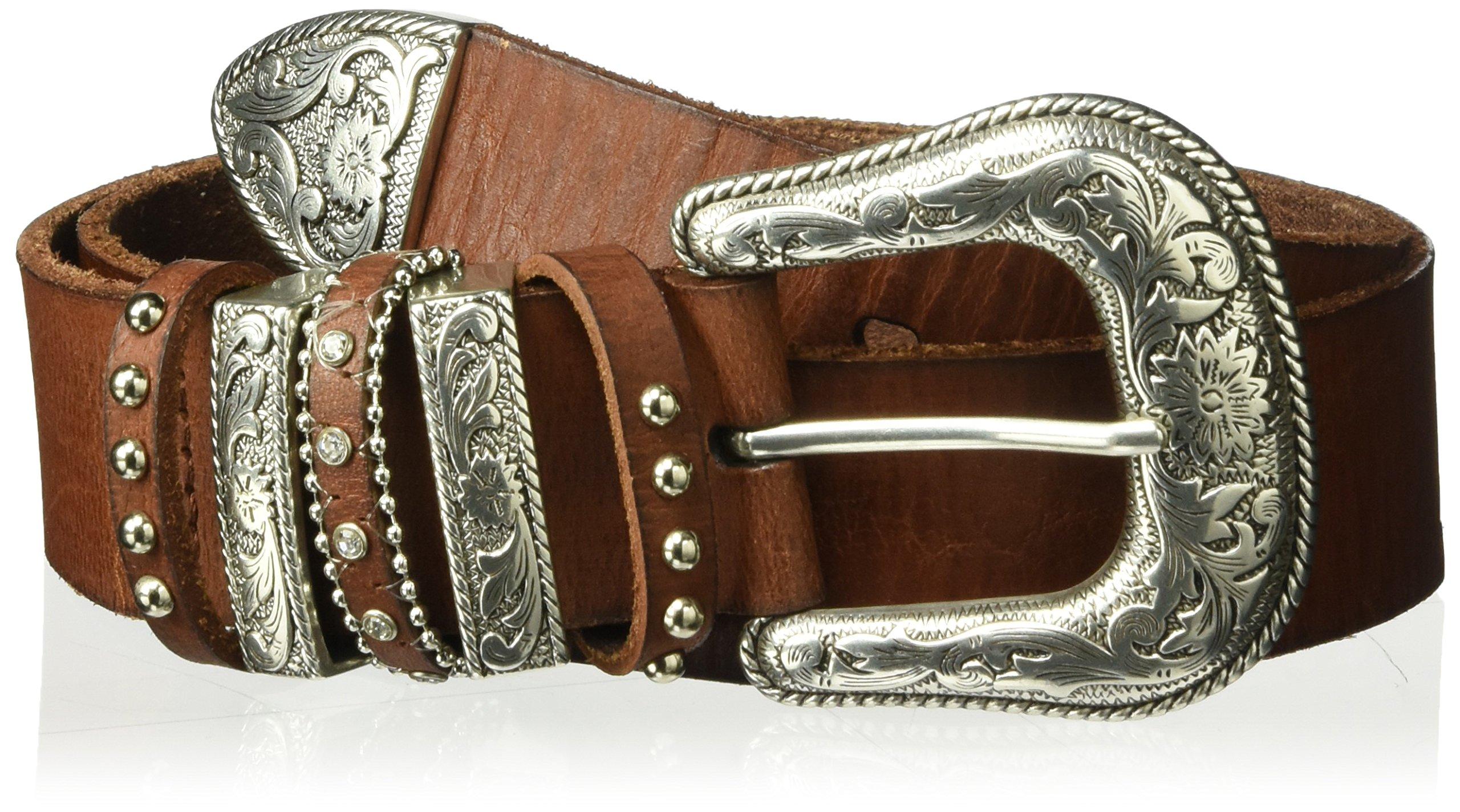 Nocona Belt Co. Women's Multi Keeper Buckle Set Belt, Brown, Extra Large