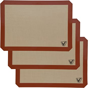 Velesco Set of 3 Non Stick Silicone Baking Mat
