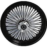 "16 x 3.5"" Black Mammoth 48 Fat Spokes Rear Wheel for Harley-Davidson 130-150 Tires"