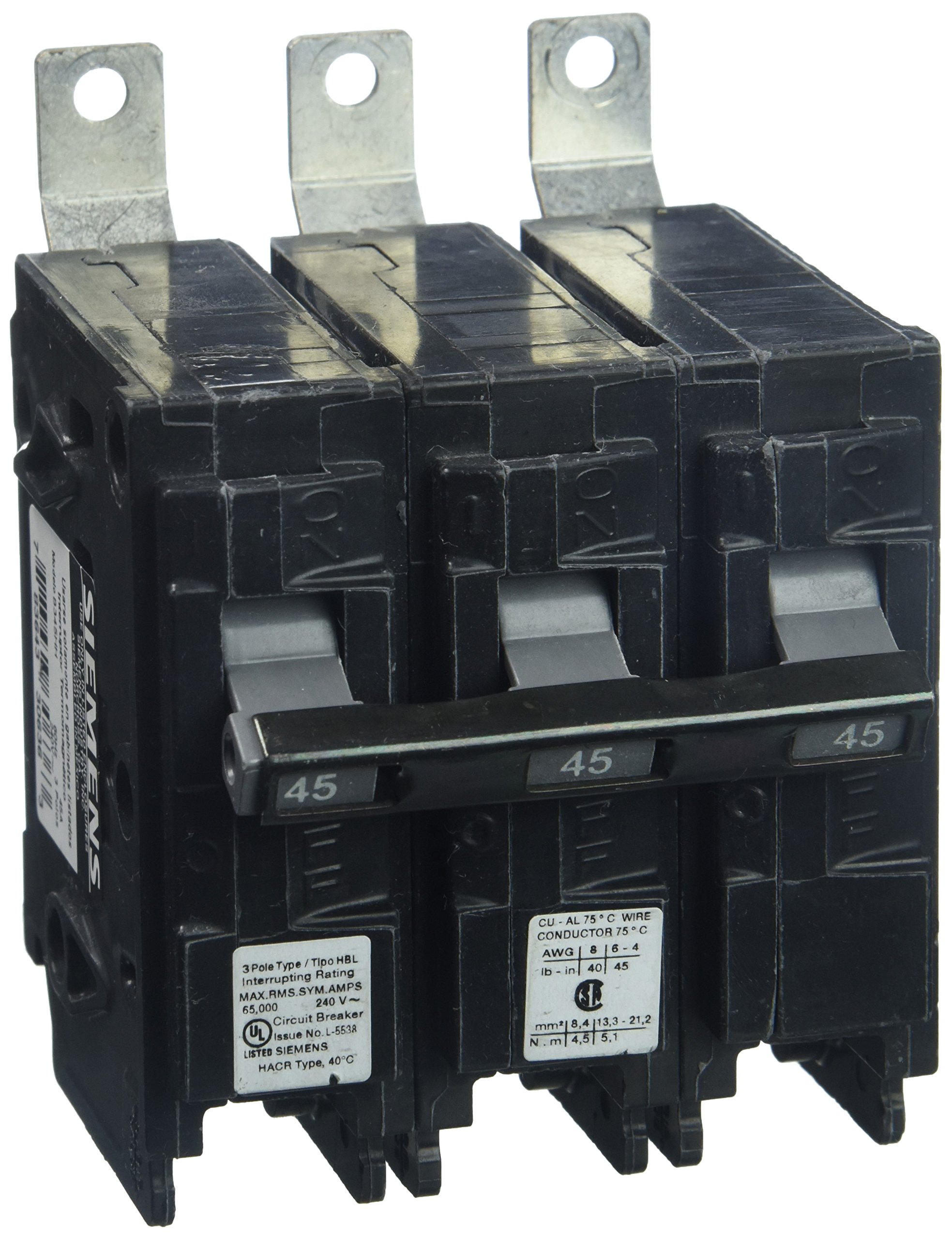 Siemens B345HH 45-Amp Three Pole 240-Volt 65KAIC Bolt in Breaker